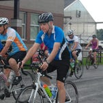 Members of the Ozarks Cycling Club, as well as sole member Shawn Hayden of the Mercy Kuat team, are among participants at the Ride to Provide on July 18 in Rogersville. The ride benefits children through the Care to Learn Fund.