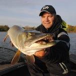 Will Schultz shows off a 51-inch muskie.