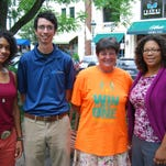 Angela Bronzie, left, Henry Frondorf, Wendy O'Neal and Catherine Botos are gearing up for the upcoming Cincinnati Neighborhood Games in July. Bronzie, O'Neal and Botos are team captains, while Frondorf is an organizer of the event.