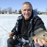Jim Romine says using ultra-ultralight tackle is the key to catching panfish through the ice.