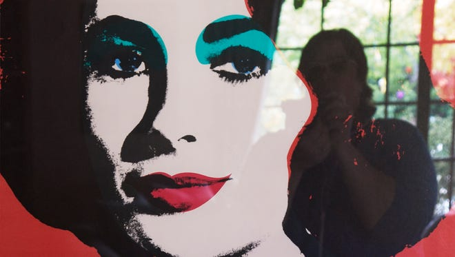 """Andy Warhol's portrait of Elizabeth Taylor, as seen inside her Bel Air, California, home by Catherine Opie from the """"700 Nimes Road"""" portfolio."""