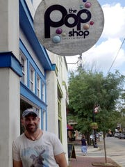 Co-owner Bill 'Stink' Fisher stands in front of the original Pop Shop in Collingswood. The restaurant is also in Medford.