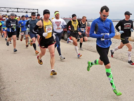 Runners get underway in the 2013 South Shore Half Marathon.