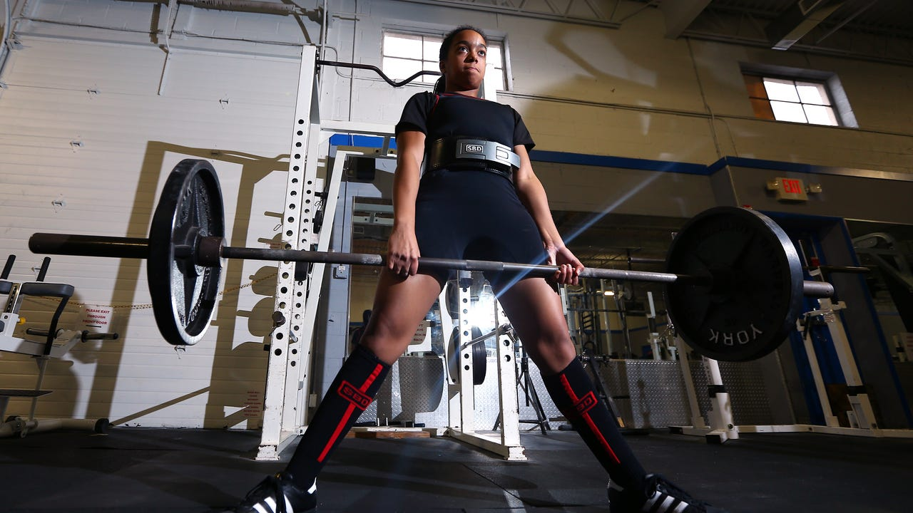 Parsippany powerlifter Diana Yturbe, 13, deadlifts 225 pounds. Her age group national record is 303 pounds. IPHONE VIDEO BY WILLIAM WESTHOVEN FEB. 26, 2018