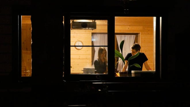 """Edward Snowden and his girlfriend, Lindsay Mills, in """"Citizenfour."""""""