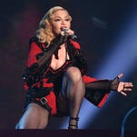 Madonna performs at the 57th annual Grammy Awards on Feb. 8 in Los Angeles.