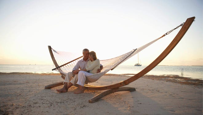 A couple enjoys their retirement