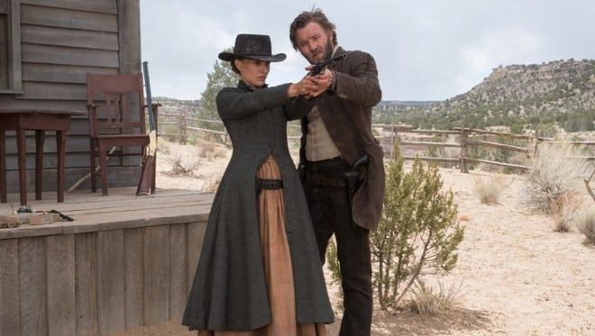 "Natalie Portman and Joel Edgerton in ""Jane Got a Gun."""