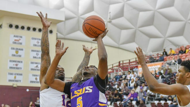 LSUS guard Stevie Clark goes up for two points in a previous game this season.