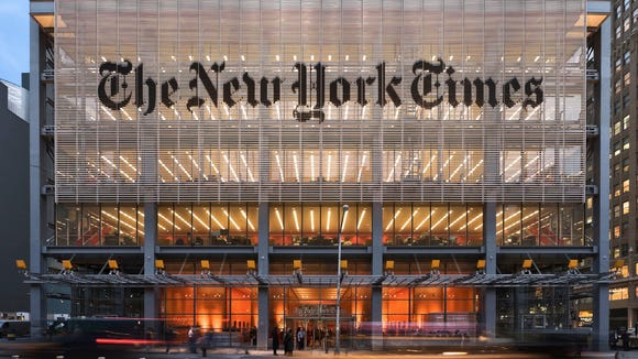 The New York Times headquarters in New York City.