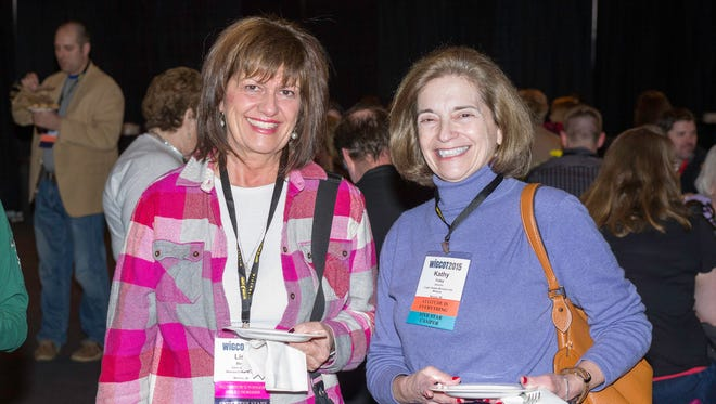 Wausau/Central Wisconsin Convention & Visitors Bureau sales manager Lisa Berry, left, with Kathy Foley.