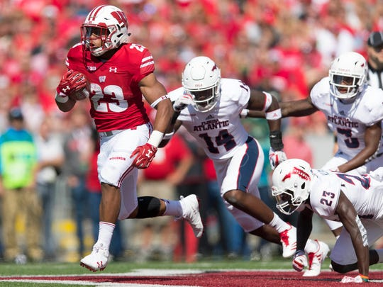 Salem grad and Wisconsin freshman running back Jonathan