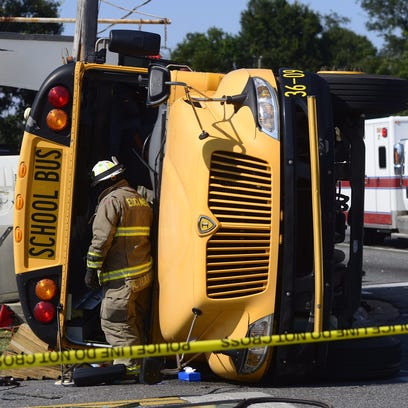 Several students were injured after a bus from Pensacola