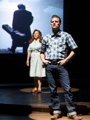 "Allison Briner-Dardenne and Michael Monroe Goodman in Arizona Theatre Company's ""Ring of Fire."""