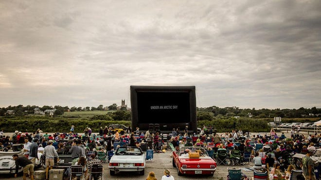 A newportFILM drive-in movie experience at Sachuest Beach in Middletown in 2017. Another drive-in screening is scheduled for June 25 at Glen Park in Portsmouth.