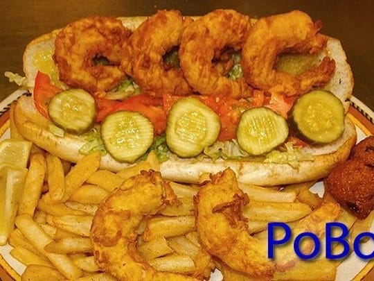 PoBoys from the menu are shown.