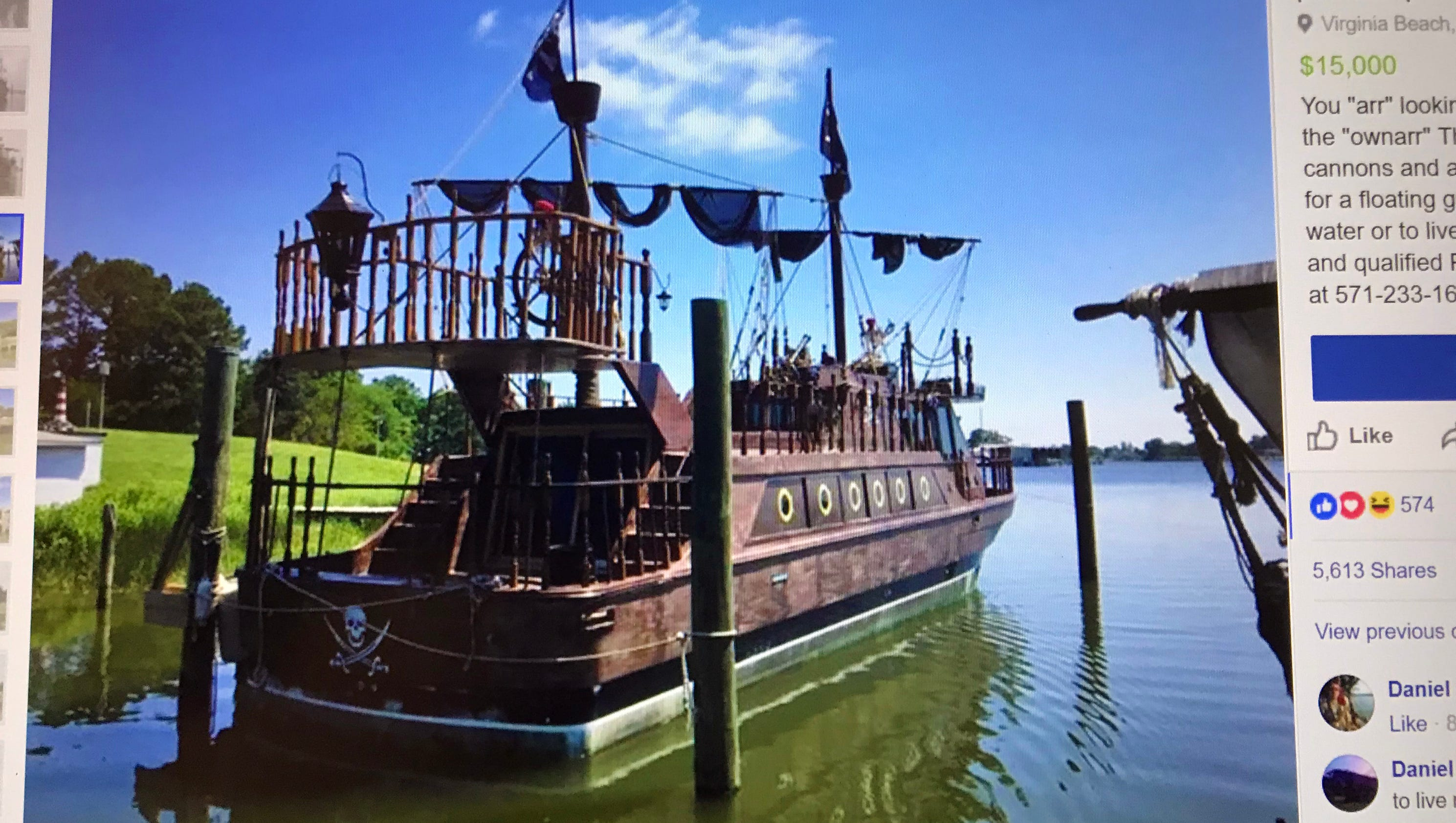 39 pirate 39 ship with literally a skeleton crew for sale on for Sips for sale