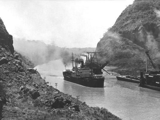 #4 SS Ancon first transit Panama Canal