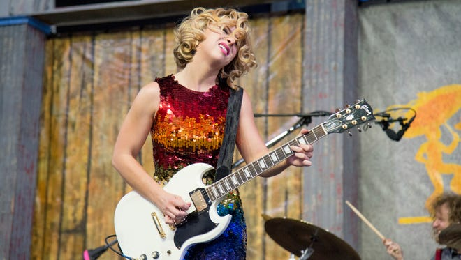 Samantha Fish performs at the New Orleans Jazz and Heritage Festival on Friday, April 27, 2017, in New Orleans.