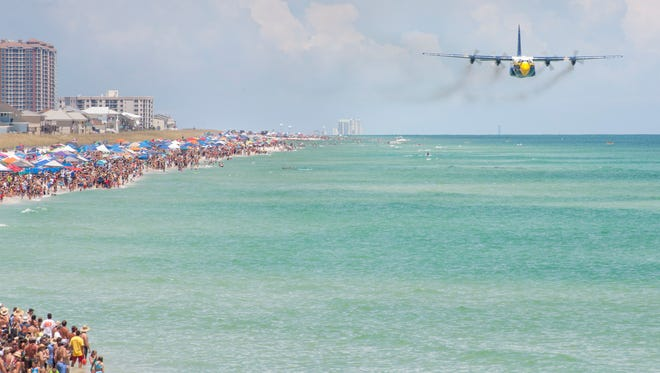 Blue Angels show in Pensacola, FL on Saturday, July 16, 2016.