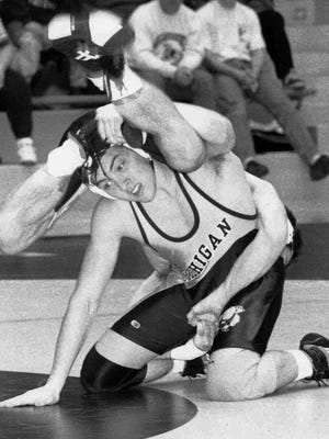 Jeff Reese wrestles for the University of Michigan. He died while trying to make weight for a match there on Dec. 9, 1997.