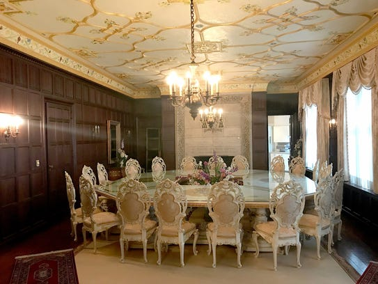 Interior of the largest private residence in Detroit,