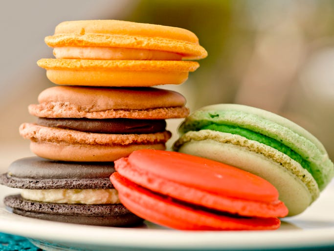 Assorted macaroons from Merci French Cafe, as seen in Scottsdale on Feb. 11, 2014.