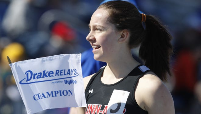 Stephanie Jenks of Linn-Mar of Marion won the 1,500 and 3,000 meters last year at the Drake Relays. She qualified for both events again.