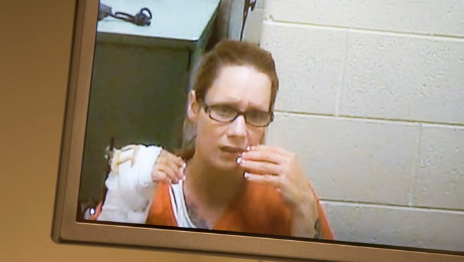Theresa Gafken, 35, was arraigned Thursday in the 72nd District Court in Port Huron. Gafken was arraigned on a felony warrant for second degree murder for causing a fatal car accident earlier this month.