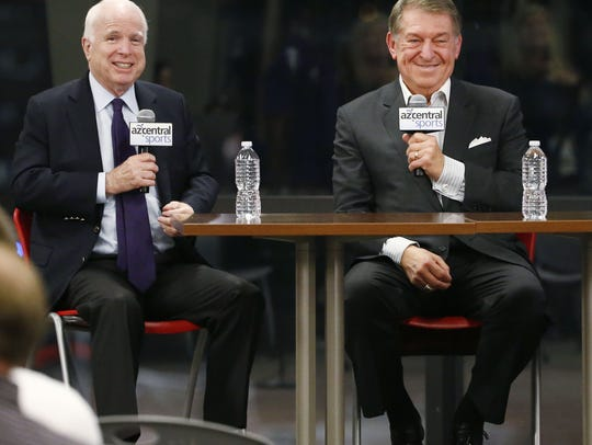 U.S. Sen. John McCain and Jerry Colangelo