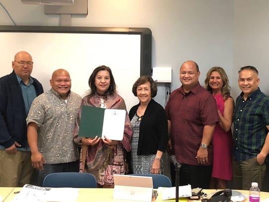 Former Guam Education Board chairwoman Lourdes San