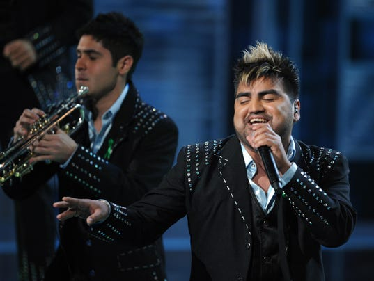 Banda El Recodo perform onstage during t
