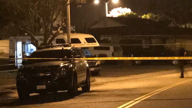 This was the scene early Thursday in Camarillo as a man's death was investigated.