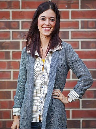 Kayla Wieking models items from Scheels Monday, Oct.