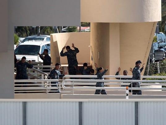 AP NAVY HOSPITAL-GUNSHOTS A USA CA