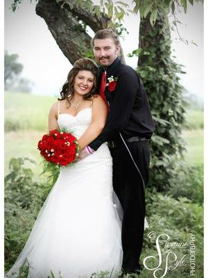 Zach and Kelsie Farmer were married July 19, 2015.