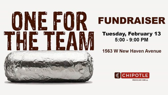 Go the Chipotle at 1563 West New Haven Ave in Melbourne on Feb. 13. Show the cashier this flyer on your smartphone or tell them you are supporting the cause to make sure that 50 percent of the proceeds will be donated to the volleyball program.