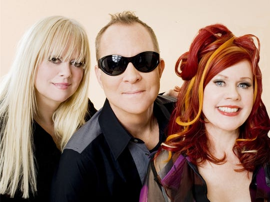 The B-52s include Cindy Wilson, Fred Schneider and Kate Pierson.