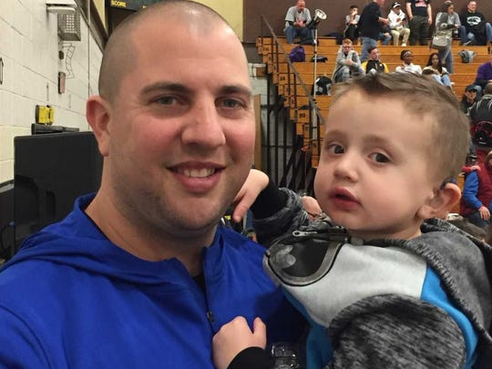 Mike O'Donnell with his 3-year-old son Shane