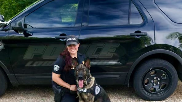 Officers Adrianne Lamers and Cisco are currently serving as members of the Lower Sioux Police Department.