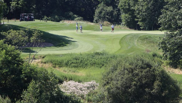 The 3rd hole at Hudson Hills Golf Course in  Ossining