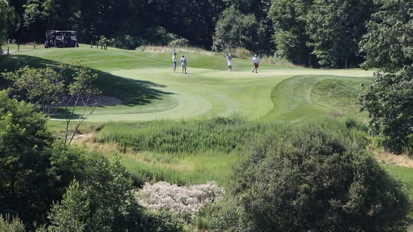 The 3rd hole at Hudson Hills Golf Course in  Ossining July 21, 2017.