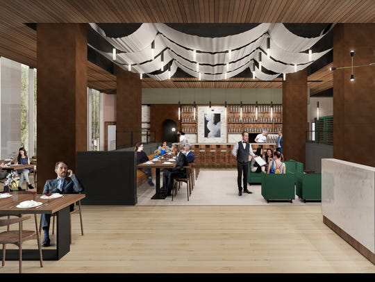 First glimpse into the high-end restaurant being built