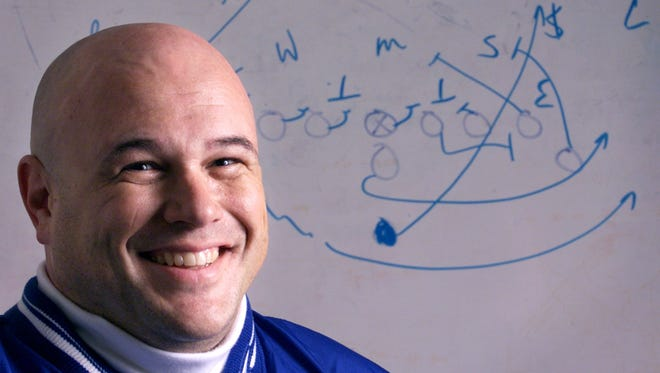 Brett Colby was the Journal & Courier's 2001 Big School Football Coach of the Year while at Frankfort.