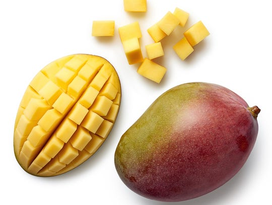 Mangoes are great eaten alone or in a fruit salad.