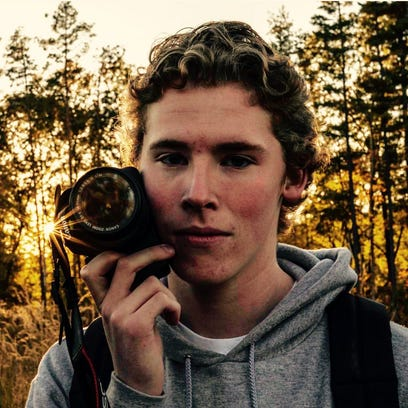 Connor Cummings and his camera.