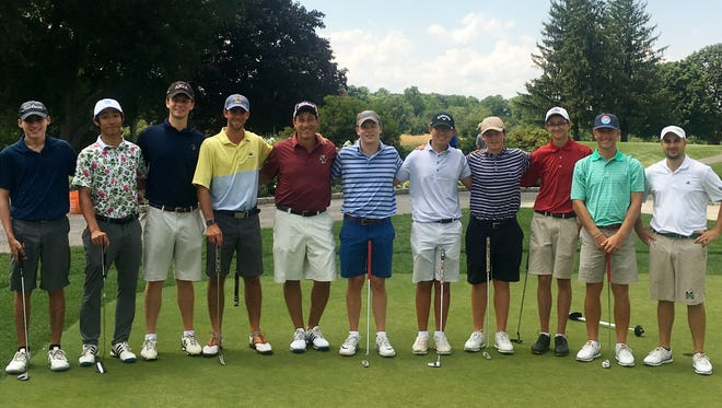 Mark Canno (fifth from left) organizes a yearly competition at Metropolis and invites some of the best local high school and college players.