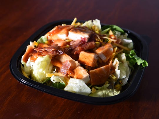 A half-sized barbecue ranch chicken salad from Wendy's.