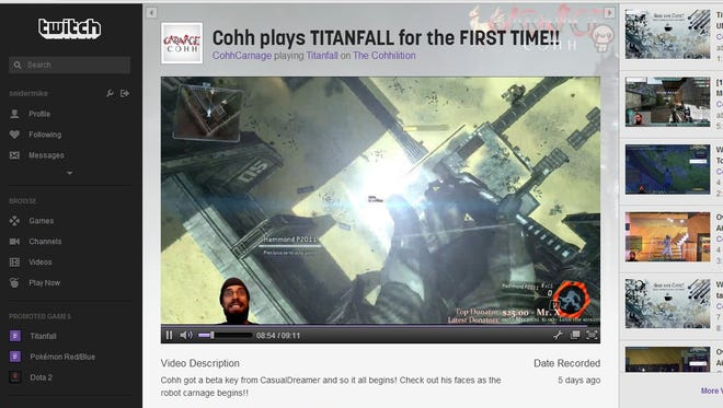 The CohhCarnage channel on the Twitch online video site.