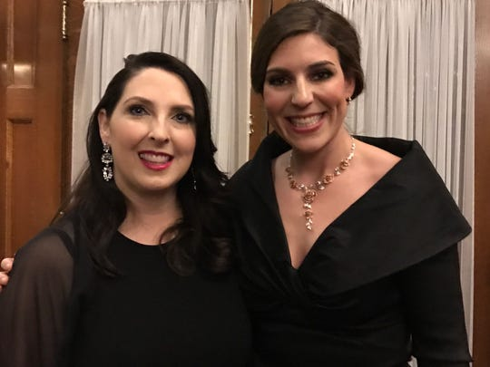 Ronna Romney McDaniel, Michigan Republican party chair, left and Lena Epstein, co-chair of the Trump in Michigan campaign, at Governor Snyder's Gala at the Historic Willard InterContinental Hotel in Washington, D.C., on Friday, Jan. 20, 2017.